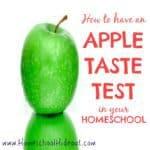 Apple Tasting!