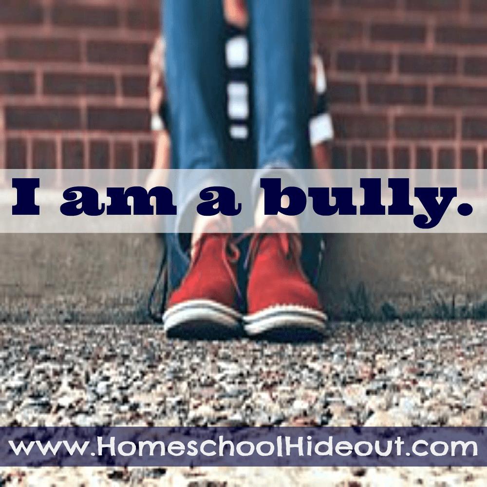 I am a bully.