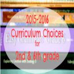 2015-2016 Homeschool Curriculum