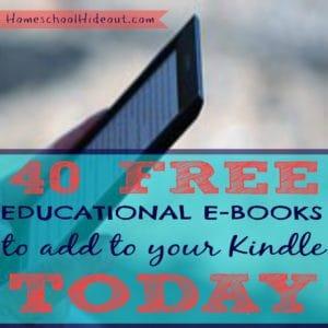 Free Homeschool E-Books for Amazon Kindle