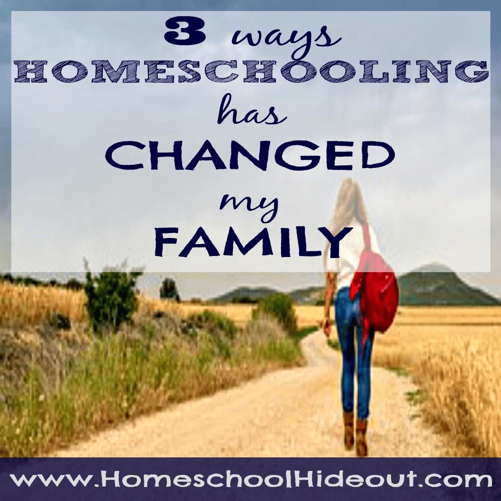 homeschooling changes families