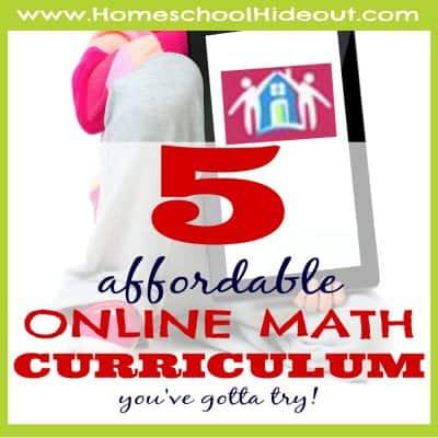 5 online homeschool math curriculum
