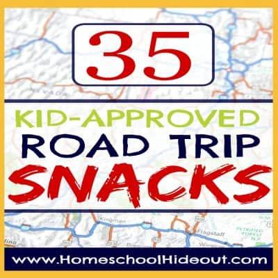 35 road trip snacks for kids