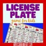 Printable License Plate Game