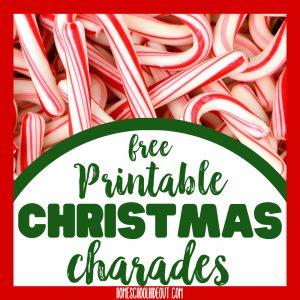 Christmas Charades Game for Kids