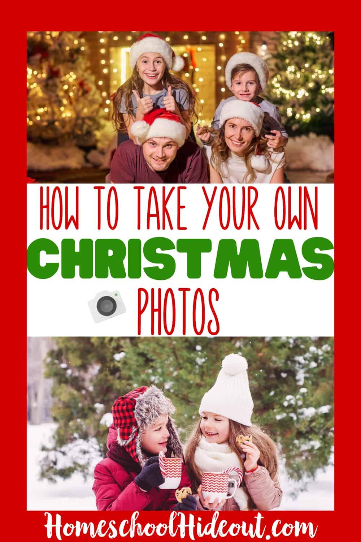 Save money and  take killer DIY Christmas family photos!  #holiday #photos #DIYphotography #christmasdiy