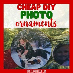 Cheap DIY Photo Ornaments
