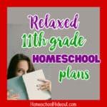 11th Grade Homeschool Plans